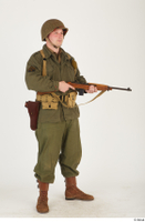 U.S.Army uniform World War II. - Technical Corporal - poses american soldier standing uniform whole body 0016.jpg