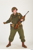 U.S.Army uniform World War II. - Technical Corporal - poses american soldier standing uniform whole body 0025.jpg