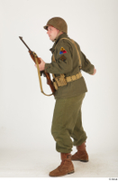 U.S.Army uniform World War II. - Technical Corporal - poses american soldier standing uniform whole body 0027.jpg