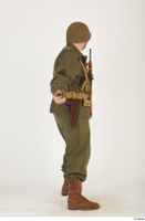 U.S.Army uniform World War II. - Technical Corporal - poses american soldier standing uniform whole body 0030.jpg