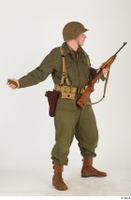 U.S.Army uniform World War II. - Technical Corporal - poses american soldier standing uniform whole body 0031.jpg