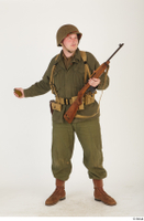 U.S.Army uniform World War II. - Technical Corporal - poses american soldier standing uniform whole body 0032.jpg