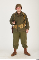 U.S.Army uniform World War II. - Technical Corporal - poses american soldier standing uniform whole body 0033.jpg