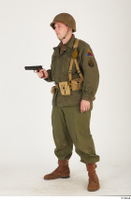 U.S.Army uniform World War II. - Technical Corporal - poses american soldier standing uniform whole body 0034.jpg