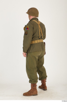 U.S.Army uniform World War II. - Technical Corporal - poses american soldier standing uniform whole body 0036.jpg