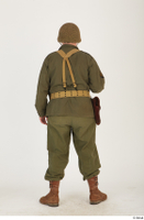 U.S.Army uniform World War II. - Technical Corporal - poses american soldier standing uniform whole body 0037.jpg