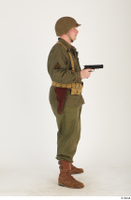 U.S.Army uniform World War II. - Technical Corporal - poses american soldier standing uniform whole body 0039.jpg