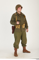 U.S.Army uniform World War II. - Technical Corporal - poses american soldier standing uniform whole body 0040.jpg