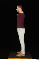 Anatoly brown shoes dressed grey trousers standing sweatshirt t poses whole body 0003.jpg