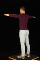 Anatoly brown shoes dressed grey trousers standing sweatshirt t poses whole body 0004.jpg