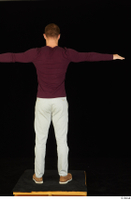 Anatoly brown shoes dressed grey trousers standing sweatshirt t poses whole body 0005.jpg