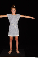Isla casual dress dressed sandals standing t poses whole body 0001.jpg