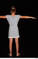 Isla casual dress dressed sandals standing t poses whole body 0005.jpg