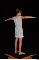 Isla casual dress dressed sandals standing t poses whole body 0006.jpg