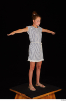 Isla casual dress dressed sandals standing t poses whole body 0008.jpg