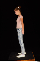 Isla blue jeans casual dressed pink t shirt standing white sneakers whole body 0011.jpg