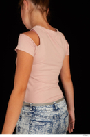 Isla casual dressed pink t shirt upper body 0004.jpg
