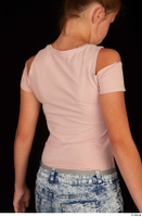 Isla casual dressed pink t shirt upper body 0006.jpg