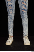 Isla blue jeans calf casual dressed white sneakers 0001.jpg