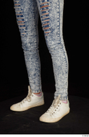Isla blue jeans calf casual dressed white sneakers 0002.jpg