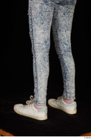 Isla blue jeans calf casual dressed white sneakers 0004.jpg