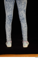 Isla blue jeans calf casual dressed white sneakers 0005.jpg