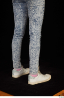 Isla blue jeans calf casual dressed white sneakers 0006.jpg