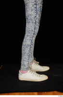 Isla blue jeans calf casual dressed white sneakers 0007.jpg