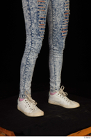 Isla blue jeans calf casual dressed white sneakers 0008.jpg