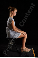 Isla  1 casual dress dressed sandals sitting whole body 0005.jpg