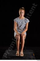 Isla  1 casual dress dressed sandals sitting whole body 0007.jpg