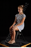 Isla  1 casual dress dressed sandals sitting whole body 0008.jpg