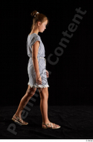 Isla  1 casual dress dressed sandals side view walking whole body 0002.jpg