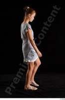 Isla  1 casual dress dressed sandals side view walking whole body 0003.jpg
