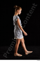 Isla  1 casual dress dressed sandals side view walking whole body 0004.jpg
