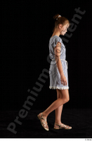 Isla  1 casual dress dressed sandals side view walking whole body 0005.jpg