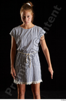 Isla  1 arm casual dress dressed flexing front view 0002.jpg
