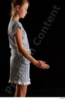 Isla  1 arm casual dress dressed flexing side view 0003.jpg
