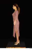 Amal dressed high heels red dress standing whole body 0011.jpg