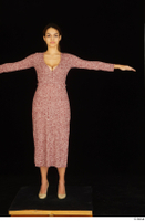 Amal dressed high heels red dress standing t poses whole body 0001.jpg
