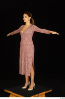 Amal dressed high heels red dress standing t poses whole body 0002.jpg