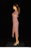 Amal dressed high heels red dress standing t poses whole body 0003.jpg