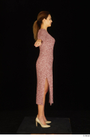 Amal dressed high heels red dress standing t poses whole body 0007.jpg