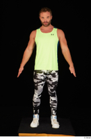 Herbert 10yers camo leggings dressed shoes sports standing tank top white sneakers whole body 0001.jpg