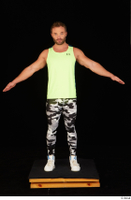 Herbert 10yers camo leggings dressed shoes sports standing tank top white sneakers whole body 0009.jpg