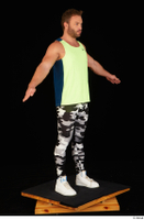 Herbert 10yers camo leggings dressed shoes sports standing tank top white sneakers whole body 0016.jpg