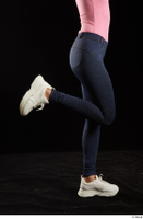 Lee Anne Lace  1 calf dressed flexing jeans leggings side view white sneakers 0004.jpg