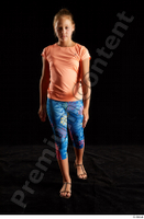 Esme  1 dressed front view leggings sandals shoes sports t shirt walking whole body 0002.jpg