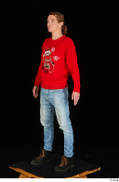Ricky Rascal casual dressed jeans red sweater shoes standing whole body 0002.jpg