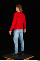 Ricky Rascal casual dressed jeans red sweater shoes standing whole body 0004.jpg